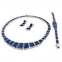 Lapis Lazuli and Sterling Silver Pharaoh Set