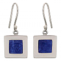 Sterling Silver Geometric Hanging Earrings