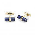 18K Gold and Lapis Lazuli Bar Cuff links