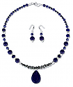 Sterling Silver and Lapis Lazuli Fantasy Beaded Set