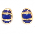 18K Gold Button Sculpted Post or Clip Earrings