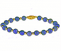 Lapis Lazuli and 18K Gold Beaded Bracelet