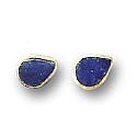 18K Gold Mini Drop Single Stone Post Earrings