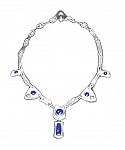 Hammered Sterling Silver and Lapis Lazuli Necklace