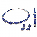 Lapis Lazuli and Sterling Silver River Pebble Set