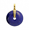 "Lapis Lazuli ""Donought"" Pendant with 18K Gold Bail"