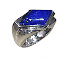 Sterling Silver Diamond Cabochon Ring