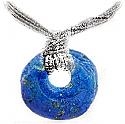 "Lapis Lazuli ""Donough"" Charm Necklace"
