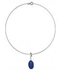 Sterling Silver and Lapis Lazuli Zen Necklace